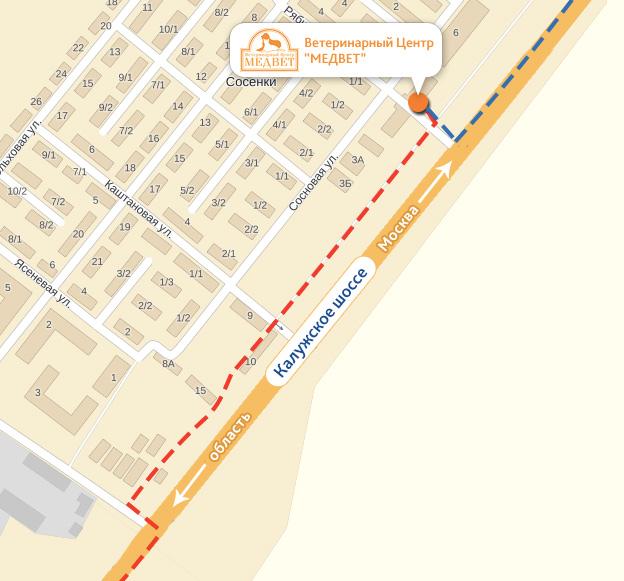 Схема проезда до ветцентра в Дубровке